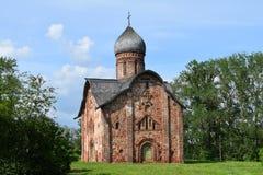 Überziehschutzanlage Peter und Paul Church, Veliky Novgorod, Russland lizenzfreies stockbild