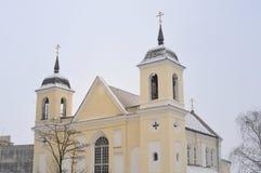 Überziehschutzanlage. Peter-und Paul-orthodoxe Kirche, Minsk Lizenzfreie Stockfotografie