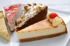 Überzogene Kuchenauswahl Lizenzfreies Stockfoto
