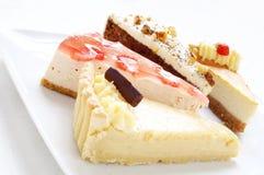 Überzogene Kuchenauswahl Stockbild