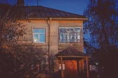 Übliches Haus in Sergiev Posad Stockfotografie