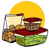 Übrig gebliebener Nahrungsmittelspeicher Stockfotos