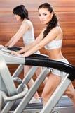Übung in der Gymnastikmitte Lizenzfreie Stockfotografie