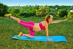 Übung für schwangeres Lizenzfreies Stockbild