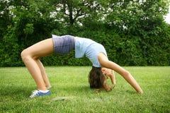 Übung im Park Stockbilder