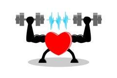 Übung machen Herz gesundes und stärkeres Konzept Vector Abbildung, EPS10 lizenzfreie abbildung