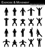 Übung und Bewegung vektor abbildung