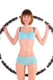 Übungen mit hula Band Stockfoto