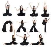 Übungen von Yoga Lizenzfreies Stockfoto