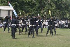 Übungs-Einheits-Sicherheitsbeamt-Polizeihauptquartier, das in Surakarta errichtet stockfotografie