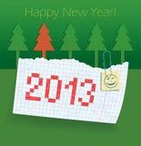 Übungsbuch mit dem Datum 2013. Glückwünsche stock abbildung