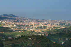 Ünye view from the Ünye Castle (Turkey) Stock Image