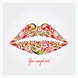 Üppige Lippen. Stockfotos