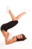 ćwiczący dziewczyny nastoletniej Zdjęcia Royalty Free