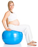 ćwiczenia kobieta w ciąży Zdjęcie Stock