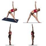 ćwiczenia rozciągania joga royalty ilustracja