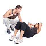 ćwiczenia trenera kobieta Zdjęcie Royalty Free