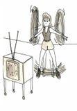 Ćwiczenie ilustracja wektor