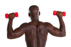 ćwiczenie afrykański mężczyzna Fotografia Royalty Free