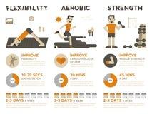 Ćwiczenie Infographic ilustracja wektor