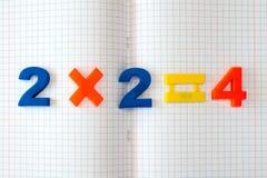 Ćwiczenie książka z matematyki formułą Obraz Stock
