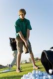 ćwiczyć dwa golfowy mężczyzna Obraz Stock