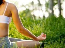 ćwiczyć joga obraz stock