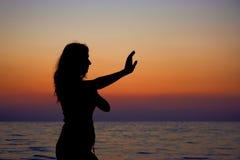 ćwiczyć na plaży Zdjęcia Royalty Free