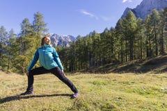 Ćwiczyć w naturze zdjęcie stock