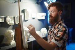 Ćwiczy anatomia rysunek w sztuki klasie obraz stock