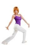 ćwiczy sprawność fizyczną Obraz Stock