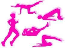 ćwiczy sprawność fizyczną Zdjęcia Stock