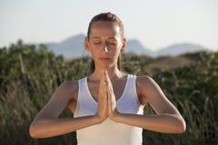 ćwiczy sprawności fizycznej joga Obrazy Royalty Free
