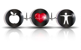 Ćwiczy zdrowej diety symbol Zdjęcia Royalty Free