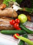 ćwieków stołu dwa warzywa Zdjęcia Royalty Free