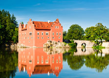 Červená Lhota Castle το πρωί Στοκ Εικόνες