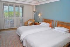 łóżek hotelu bliźniak obraz royalty free