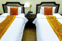 łóżek wezgłowia sypialni tabeli 2 Fotografia Stock