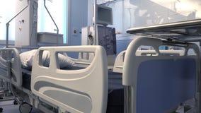 Łóżko dla nowożytnego sprzętu medycznego i pacjenta zbiory