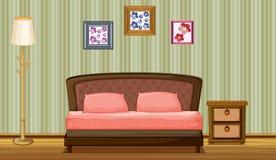 Łóżko i lampa ilustracja wektor