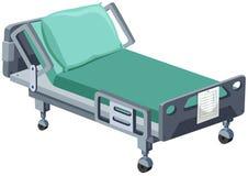 Łóżko szpitalne z kołami ilustracja wektor