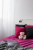 Łóżko w skała stylu dla dziewczyny Obraz Stock
