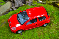 łóżkowa chłopiec samochodu zabawka Fotografia Stock