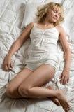 łóżkowa kobieta fotografia stock