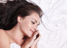 łóżkowa kobieta Zdjęcie Stock
