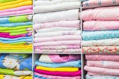 Łóżkowa pościel sprzedająca zdjęcia stock