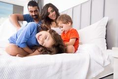 łóżkowa rodzina Obrazy Stock