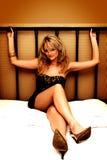 łóżkowa seksowna kobieta Zdjęcia Royalty Free