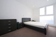 łóżkowa sypialni kopii ampuła nowożytna zdjęcie royalty free