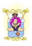 łóżkowi hard żelaza cajgi target71_1_ target72_1_ Fotografia Royalty Free